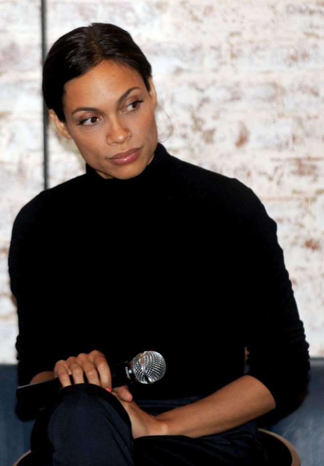 Rosario Dawson - Harlem Women's Round-Table Conversation in New York City