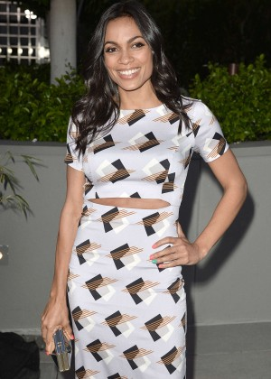 Rosario Dawson Leaves a Party in Beverly HIlls