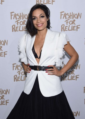 Rosario Dawson - Naomi Campbell's Fashion For Relief Charity Fashion Show in NY