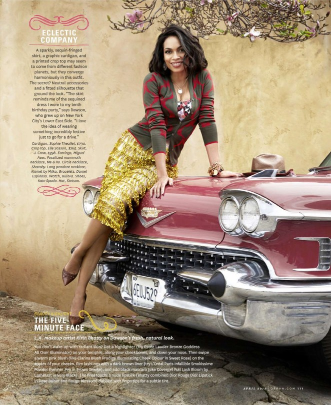 Rosario Dawson - O, The Oprah US Magazine (April 2015)