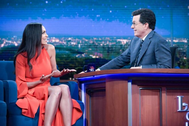 Rosario Dawson on 'The Late Show with Stephen Colbert' in New York