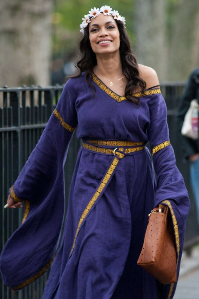 Rosario Dawson out in East Village