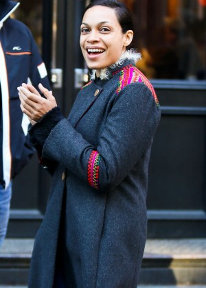 Rosario Dawson out in NY