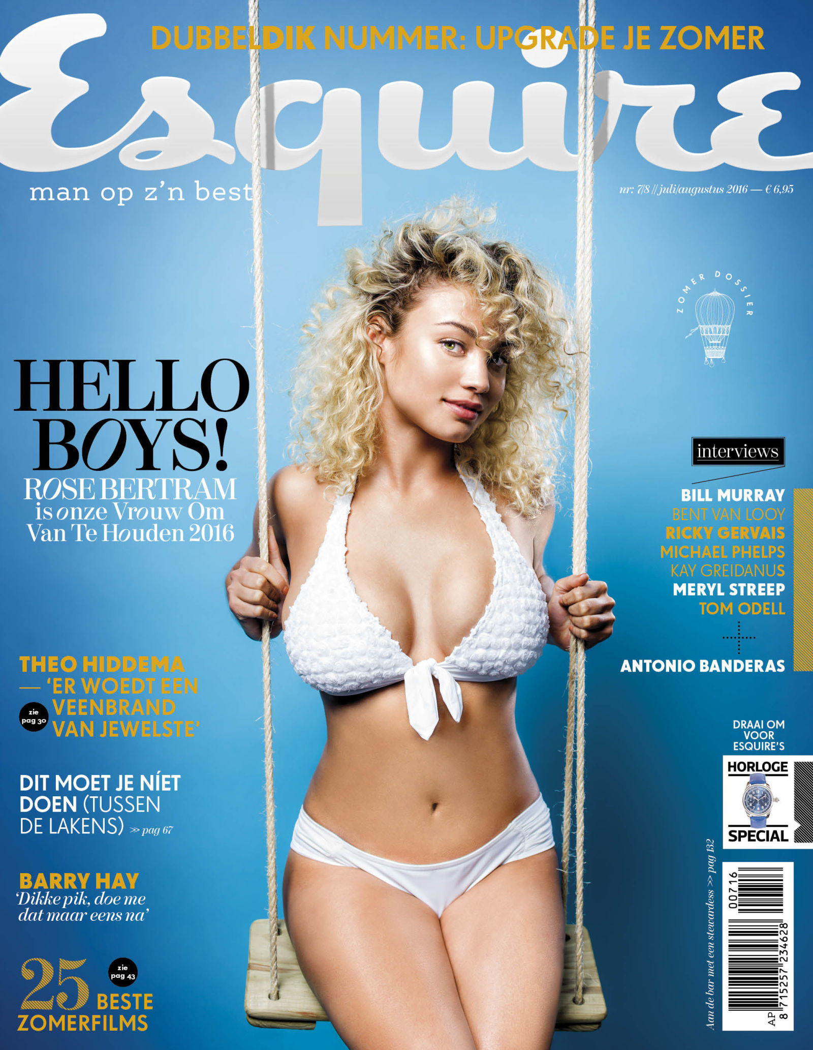 Rose Bertram - Esquire Netherlands Magazine (Jul/Aug 2016)