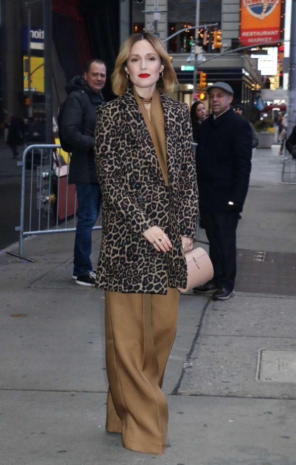 Rose Byrne - Arrives at 'Good Morning America' in New York