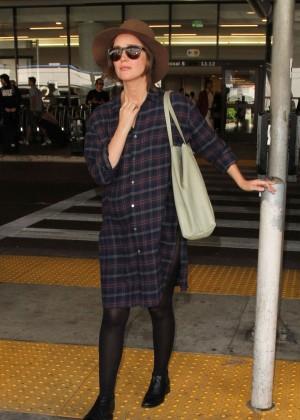Rose Byrne at Los Angeles International Airport