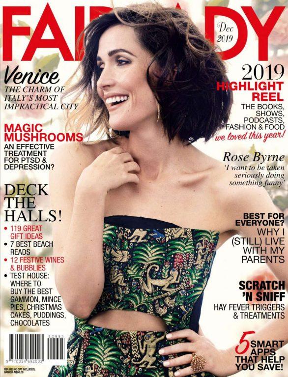 Rose Byrne - Fairlady Magazine (December 2019)