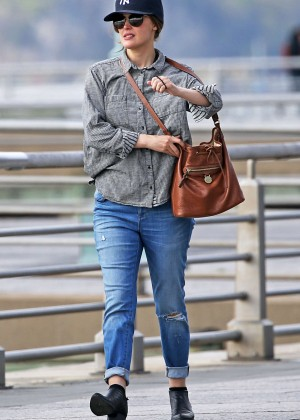Rose Byrne in Jeans at the park in New York