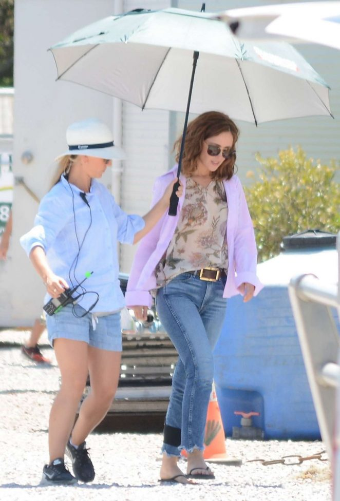 Rose Byrne in Jeans Filming new movie in Sydney