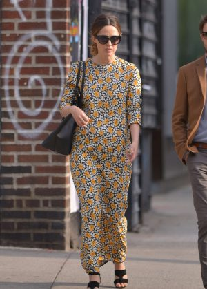 Rose Byrne in Long Dress out in Manhattan
