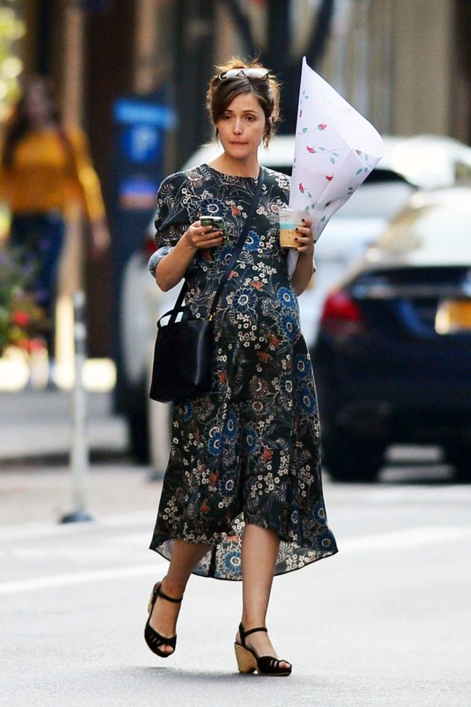 Rose Byrne in Long Dress out in New York City
