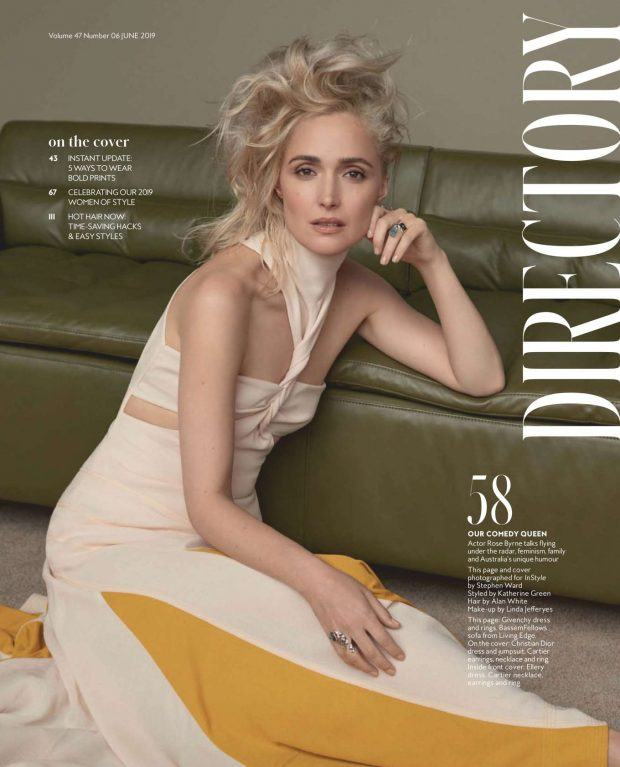 Rose Byrne - InStyle Australia Magazine (June 2019)