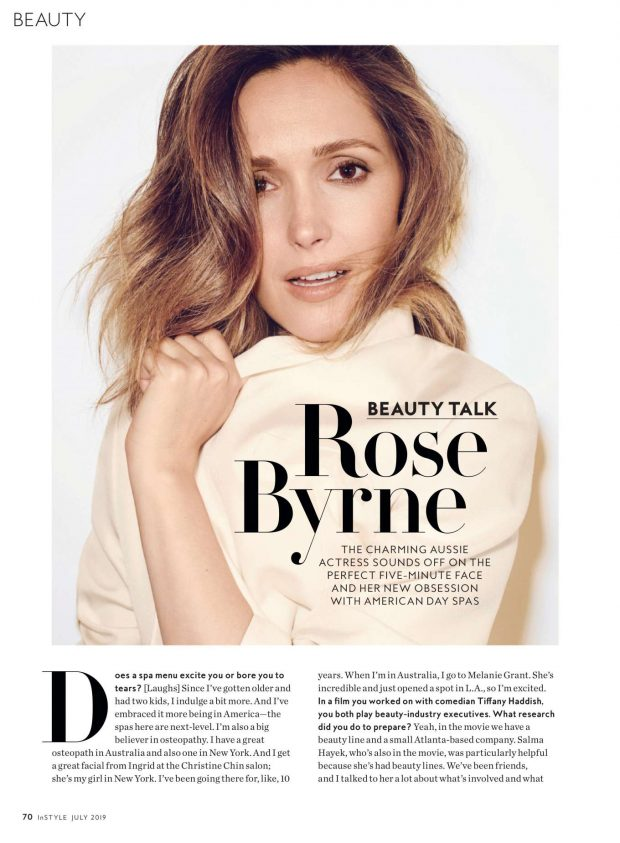 Rose Byrne - InStyle Magazine (July 2019)