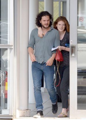 Rose Leslie and Kit Harington - Car Shopping in London