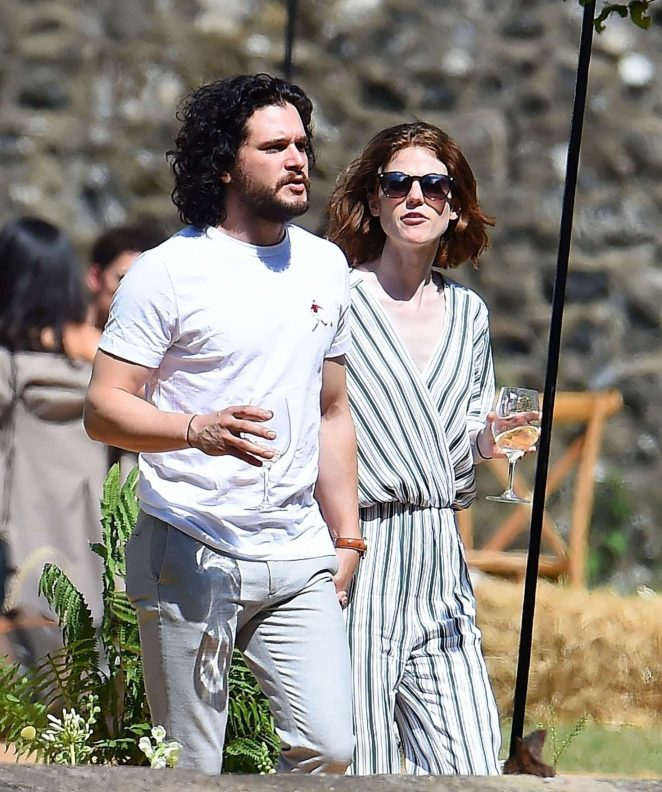 Rose Leslie and Kit Harington - Having lunch at Wardhill Castle in Aberdeen