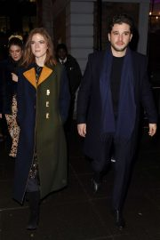 Rose Leslie and Kit Harington - Leaving the MS Society's Carols by Candlelight event in London