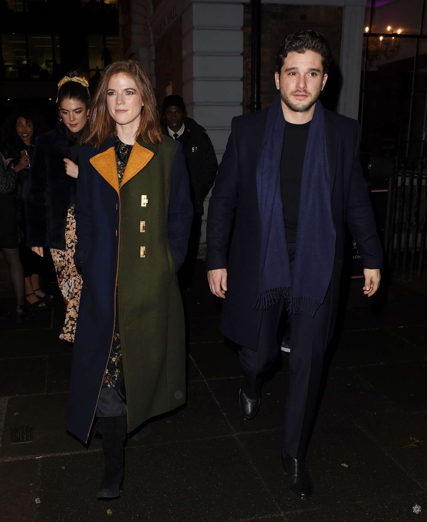 Rose Leslie and Kit Harington - Leaving the MS Society's ...