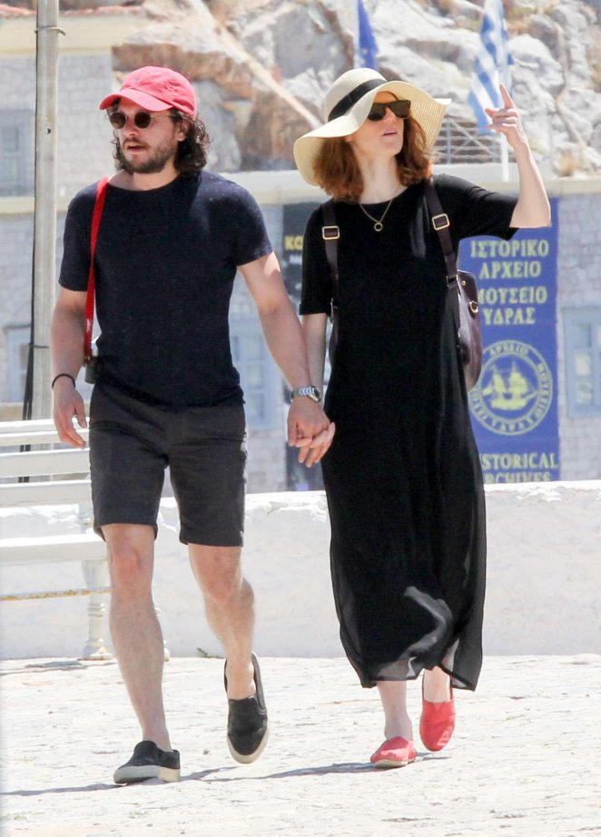 Rose Leslie and Kit Harington on holiday in Greece