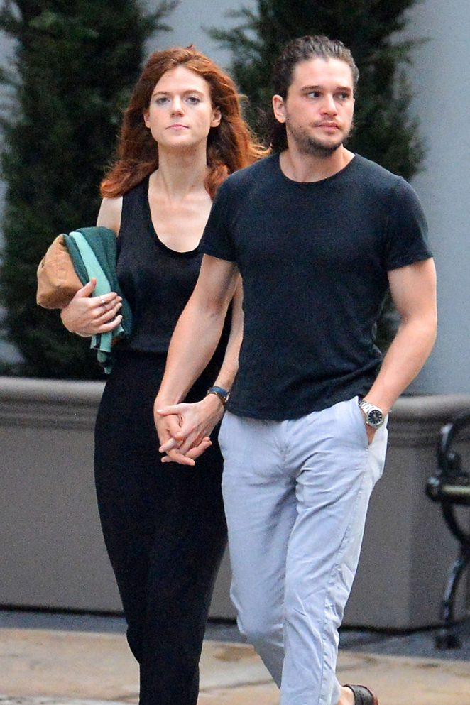 Rose Leslie and Kit Harington out in New York City