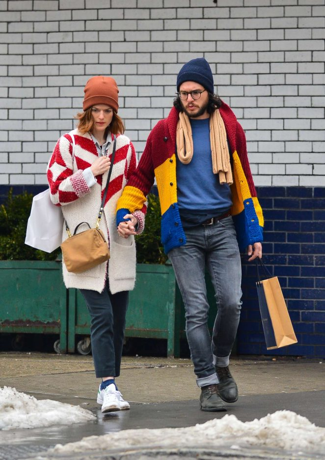Rose Leslie and Kit Harington - Out in New York City