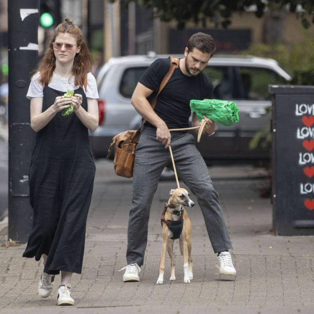 Rose Leslie and Kit Harrington - Out for a walk in North London