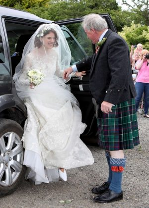 Rose Leslie - Arriving at her wedding with Kit Harington in Scotland