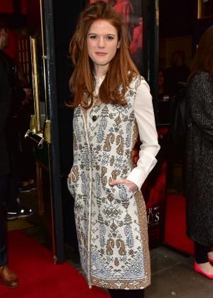 Rose Leslie at 'Doctor Faustus' Gala Night in London
