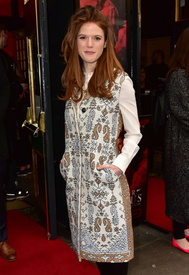 Rose Leslie at 'Doctor Faustus' Gala Night in London