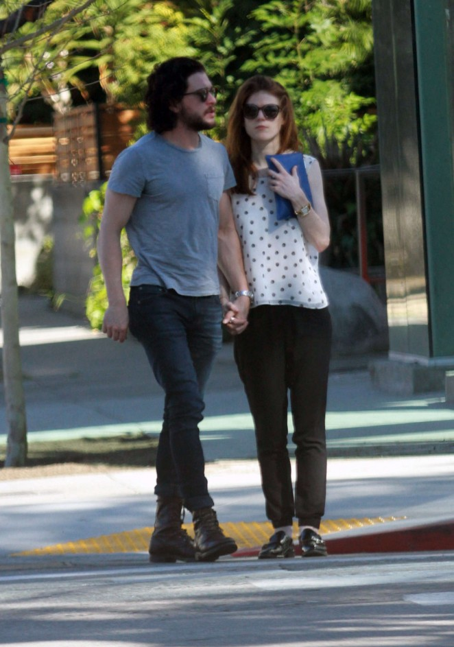 Rose Leslie at Urth Caffe in West Hollywood