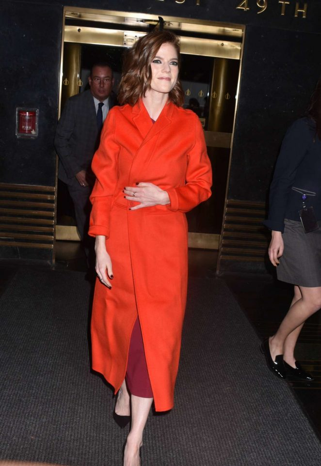 Rose Leslie - Heading to the Late Night with Seth Meyers in NYC