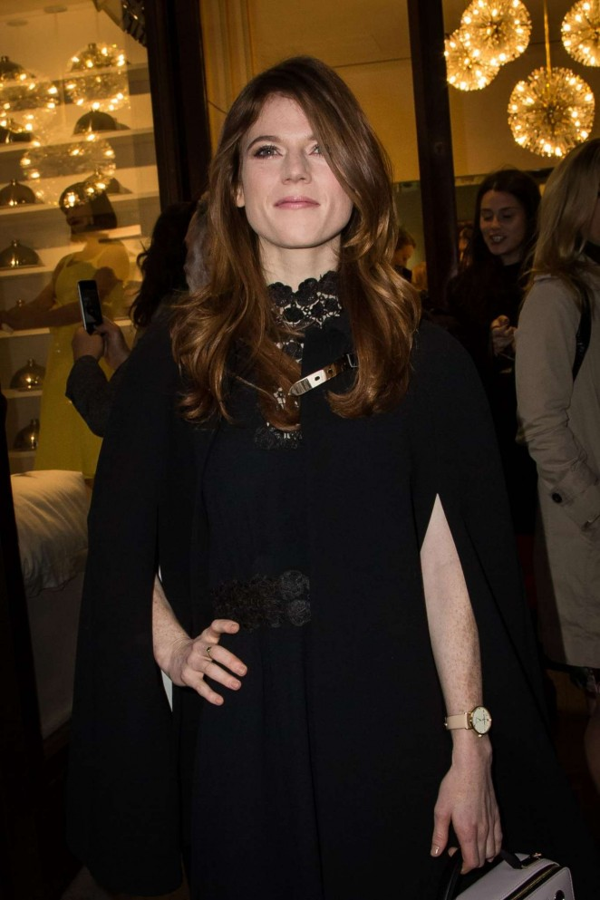 Rose Leslie - Kate Spade New York Store Opening Party in London