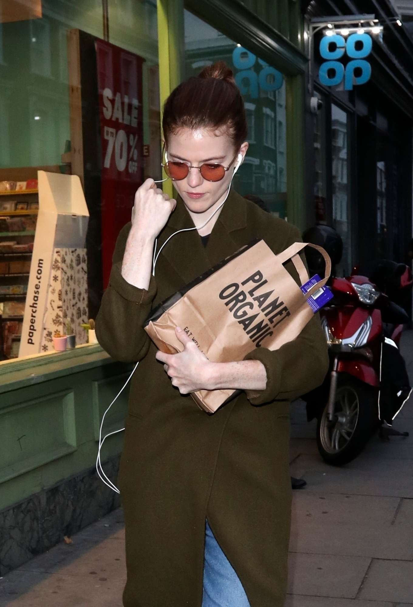 Rose Leslie - Out in West London