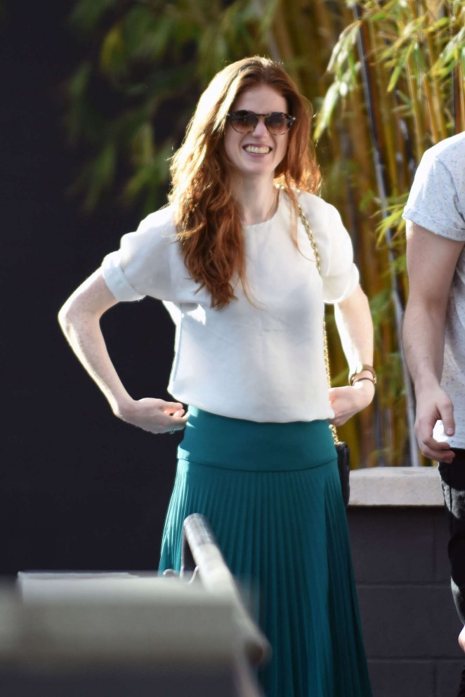 Rose Leslie Shopping in Los Angeles