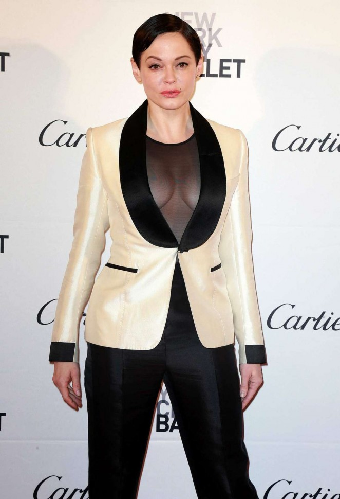 Rose McGowan - 2015 New York City Ballet Fall Gala in NY