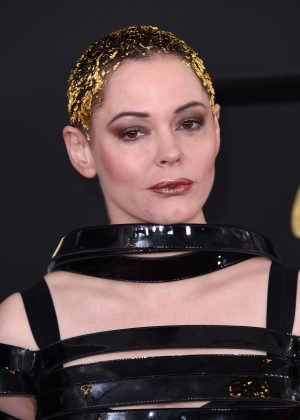 Rose McGowan - 59th GRAMMY Awards in Los Angeles