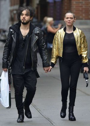 Rose Mcgowan and Davey Detail Out in New York