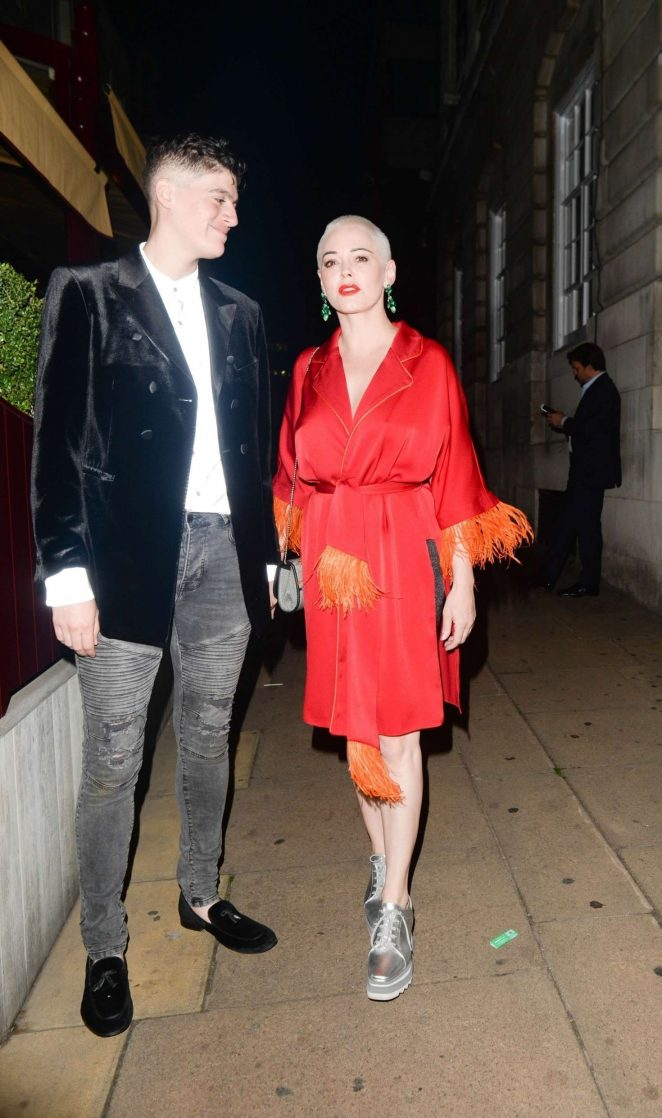 Rose McGowan - Arrives at LOVE Magazine party in London