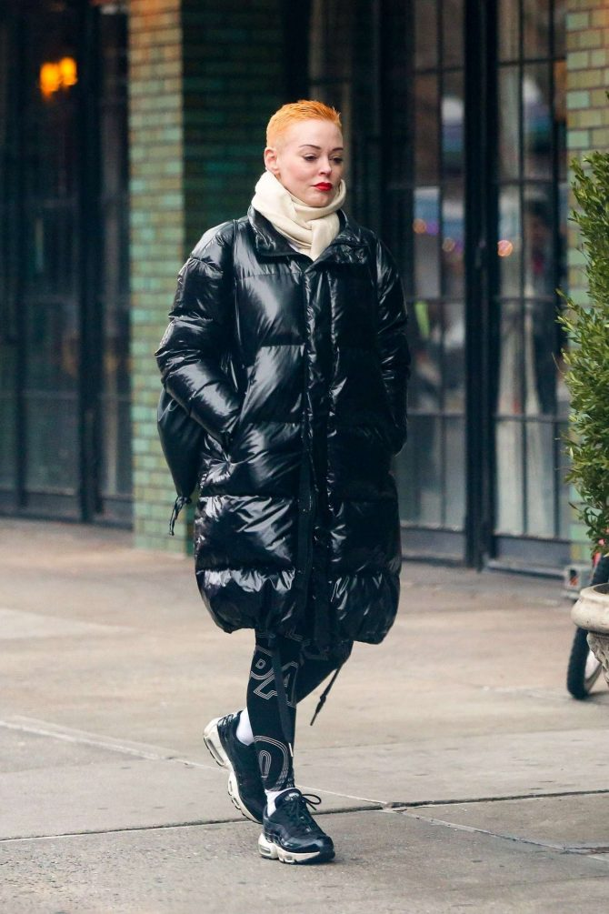 Rose McGowan 2019 : Rose McGowan: Arriving at The Bowery Hotel -07