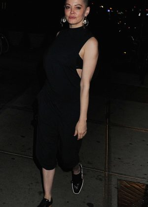 Rose McGowan at Bowery Hotel in New York City