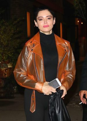 Rose McGowan at Locanda Verde in New York City