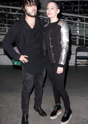 Rose Mcgowan at Madeo Restaurant in Hollywood