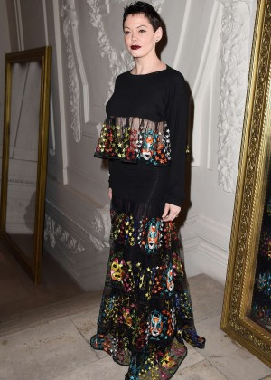 Rose McGowan - Jean Paul Gaultier Fashion Show 2015 in Paris