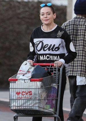 Rose McGowan - Leaves a CVS store in Santa Monica