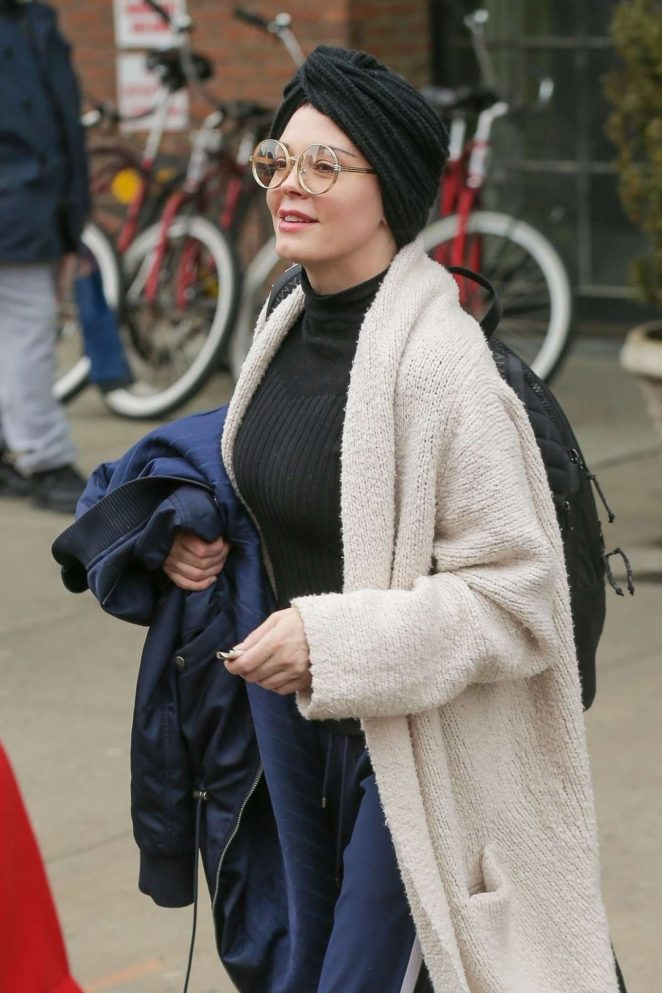 Rose Mcgowan - Leaves Her Hotel in New York