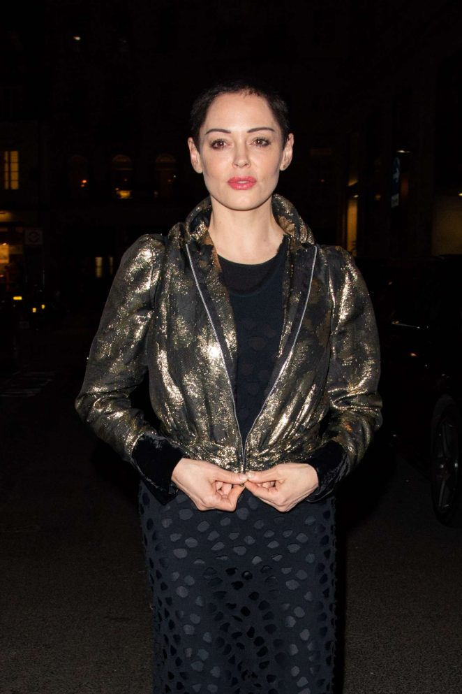 Rose McGowan - Leaving Ash From Chaos Private View in Mayfair