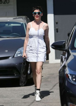 Rose Mcgowan - Out And About in Los Angeles