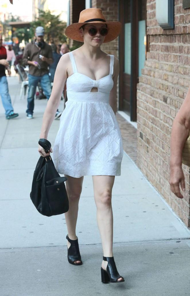 Rose mcgowan in mini dress