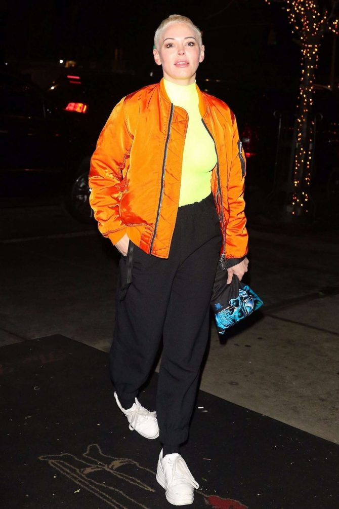 Rose McGowan 2019 : Rose McGowan: Outside The Bowery Hotel -02