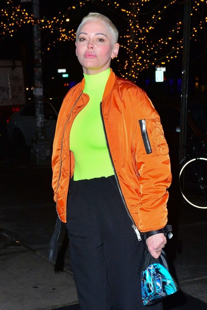 Rose McGowan - Outside The Bowery Hotel in NYC