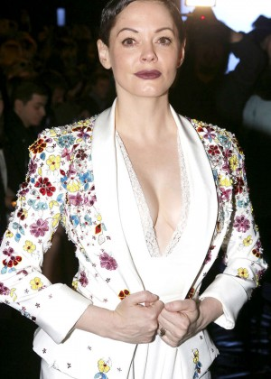 Rose McGowan - Zuhair Murad Fashion Show 2015 in Paris